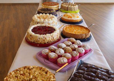 Kuchen-Buffet der Hofschenke