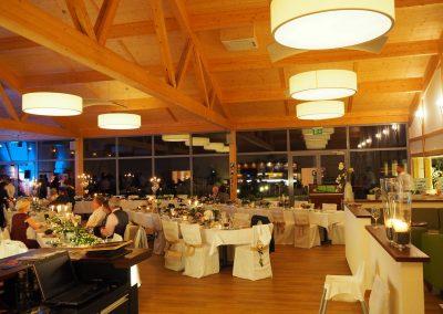 abendliche Veranstaltung im Panoramasaal der Hofschenke