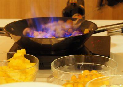 Live-Kochen am Buffet
