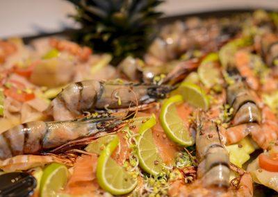 leckere Fischplatte am Buffet Hofschenke